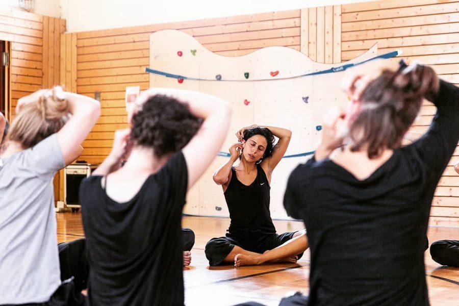 Διδασκαλία σεμιναρίου κίνησης και χορογραφίας, 3ο Workcamp in Performance and Choreography, Βερολίνο, 2018