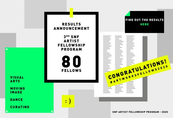 RESULTS ANNOUNCEMENT- 3<sup>rd</sup> SNF ARTIST FELLOWSHIP PROGRAM