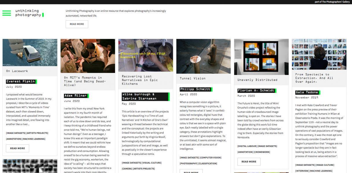 unthinking.photography, διαδικτυακή πλατφόρμα, 2016 - Σήμερα