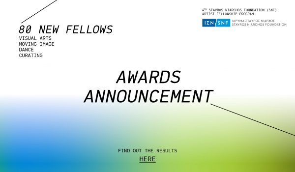 RESULTS ANNOUNCEMENT – 4<sup>th</sup> SNF ARTIST FELLOWSHIP PROGRAM